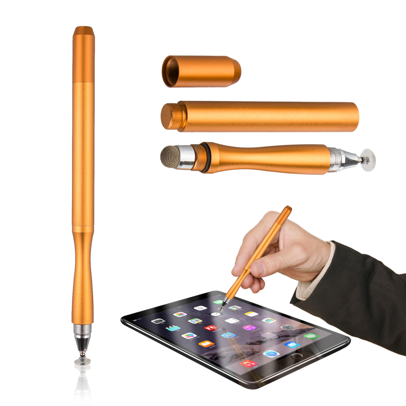 Stylus Pen, Super Capacitive Stylus Fine Point Styluses with Extra Thin Point Disc Tips Universal for Tablet/iPad Mini/Smartphones All Touch Screen Devices