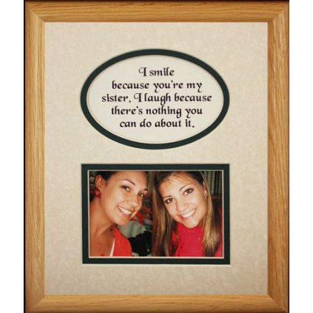 8X10 Sister Picture & Poetry Photo Gift Frame ~ Cream/Hunter Green Mat ~ Heartfelt Keepsake Picture Frame For A Sister From A Sister Or Brother ~ Gift Idea For A Birthday, Wedding Or Christmas (Halloween Ideas For Brother And Sister)