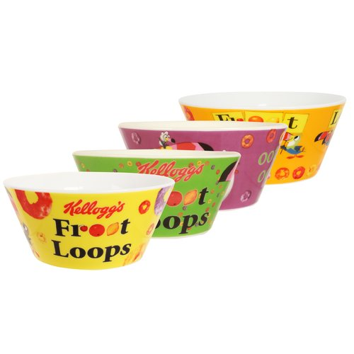R Squared Kellogg's Froot Loops 4 Piece Bowl Set