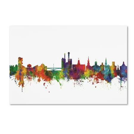 Trademark Fine Art 'Iowa City Iowa Skyline II' Canvas Art by Michael Tompsett (Iowa Art)