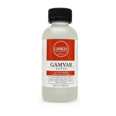 GAMBLIN ARTISTS COLORS CO 10604 GAMVAR PICTURE VARNISH SATIN 4.2OZ/125ML