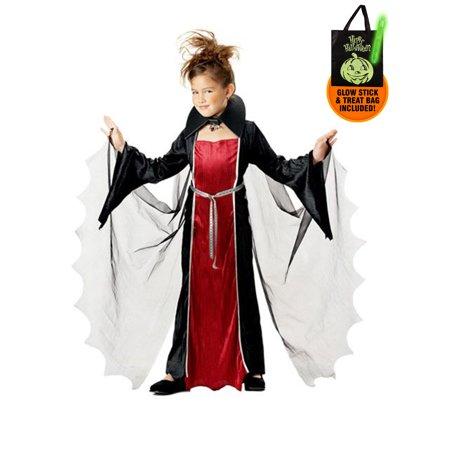 Vampire Girl Kids Costume for Kids Treat Safety Kit