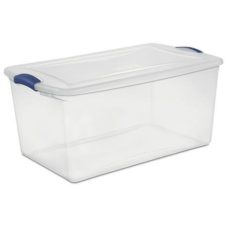Sterilite 66 Qt 62 L Latch Box Stadium Blue Available In Case