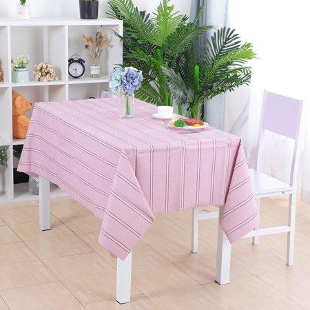 "Tablecloth PVC Vinyl Oil Stain Resistant Wedding Table Cloth 54"" x 71"", #9 - image 5 de 7"