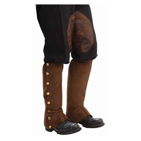 Forum Santa Holiday Gentleman Suede Boot Cover Spats, Brown Gold, One-Size
