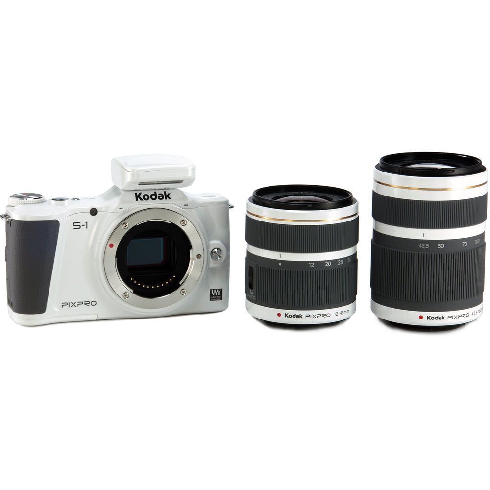 KODAK S1-WH6 PIXPRO S-1 Mirrorless Camera (White) Bundle with 16GB SD Card and Case