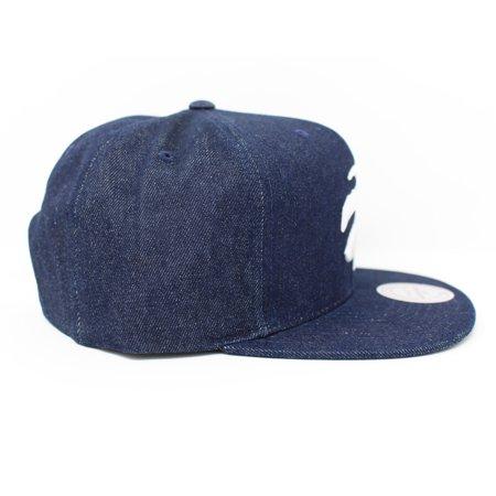 Mitchell and Ness Toronto Raptors Polka Dot Denim Blue Snapback Hat - image 3 of 5