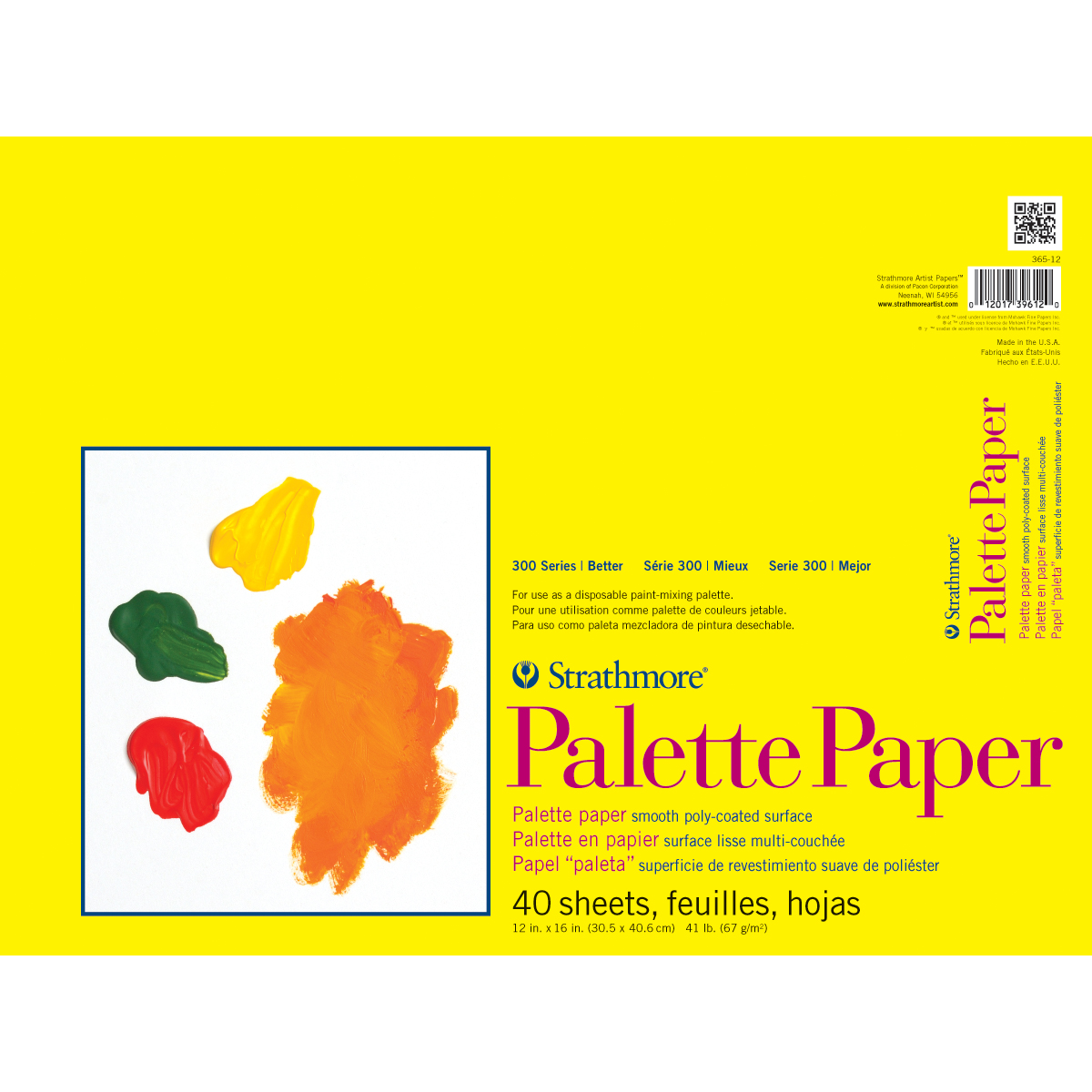 """Strathmore Palette Paper Pad 12""""X16""""-40 Sheets"""