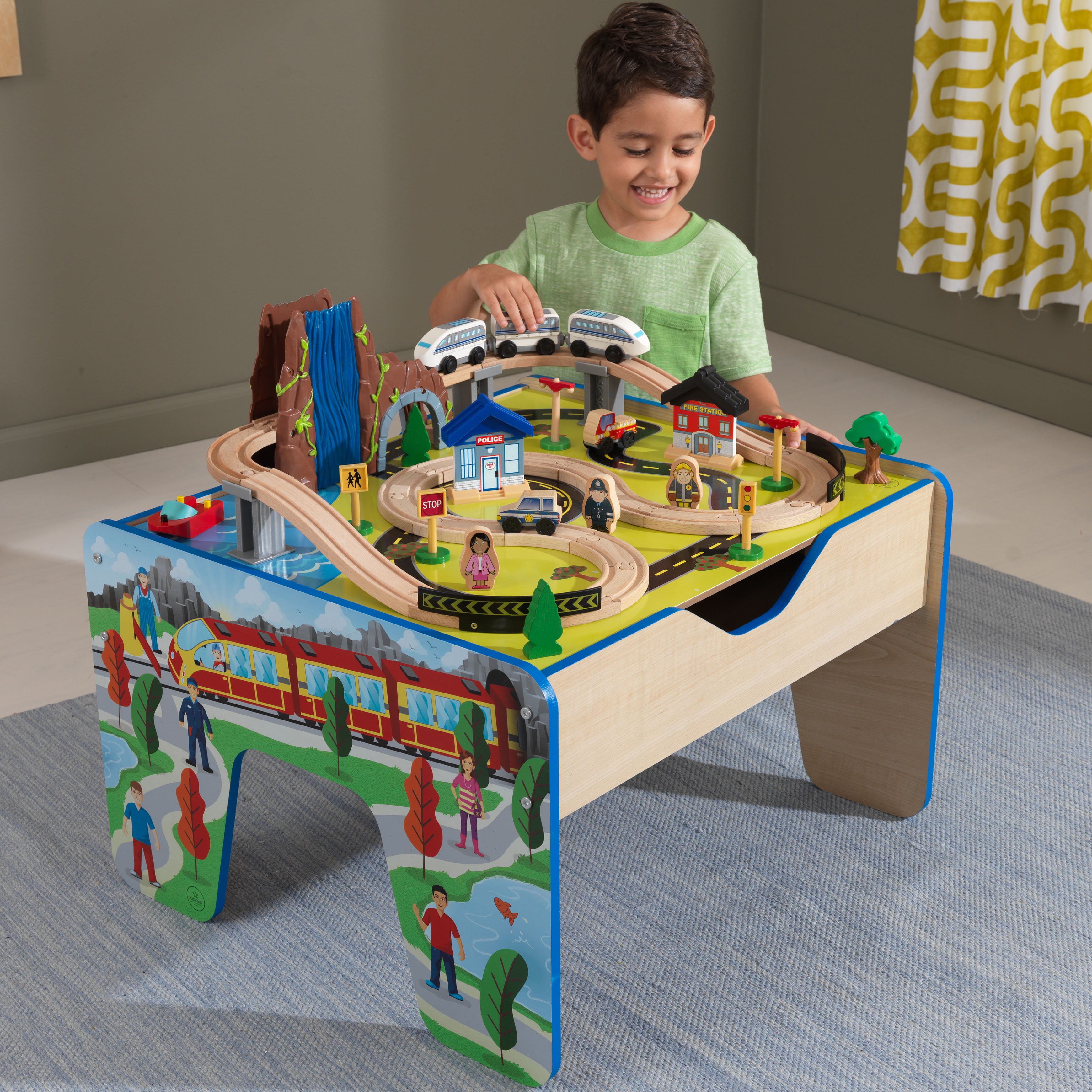 Pleasant Kidkraft Rapid Waterfall Train Set Table With 48 Interior Design Ideas Apansoteloinfo