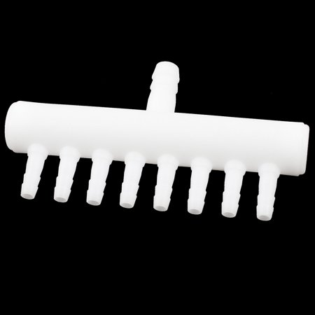 Plastic 1 Inlet 8 Outlet Air Hose Pipe Connector Adapter White for Fish Tank (8 Plastic Pipe)