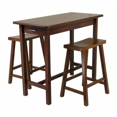 Sally 3-Pc Breakfast Table Set with 2 Saddle Seat Stools ()