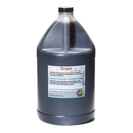 Grape Syrup - Grape Ready to Use Shaved Ice or Sno Cone Syrup Gallon