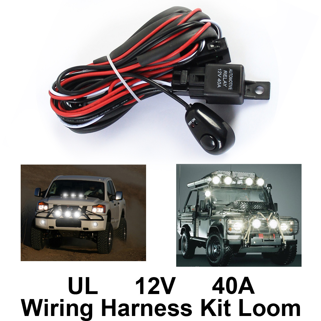 Wiring Harness. Wiring Harness Kit Loom For Led Work Driving Light Bar With Fuse Relay 12v 40a. Wiring. 2010 Zone Golf Cart Wiring Harness At Scoala.co