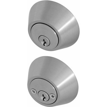 Honeywell Double Cylinder Deadbolt Door Lock, Satin Nickel ()