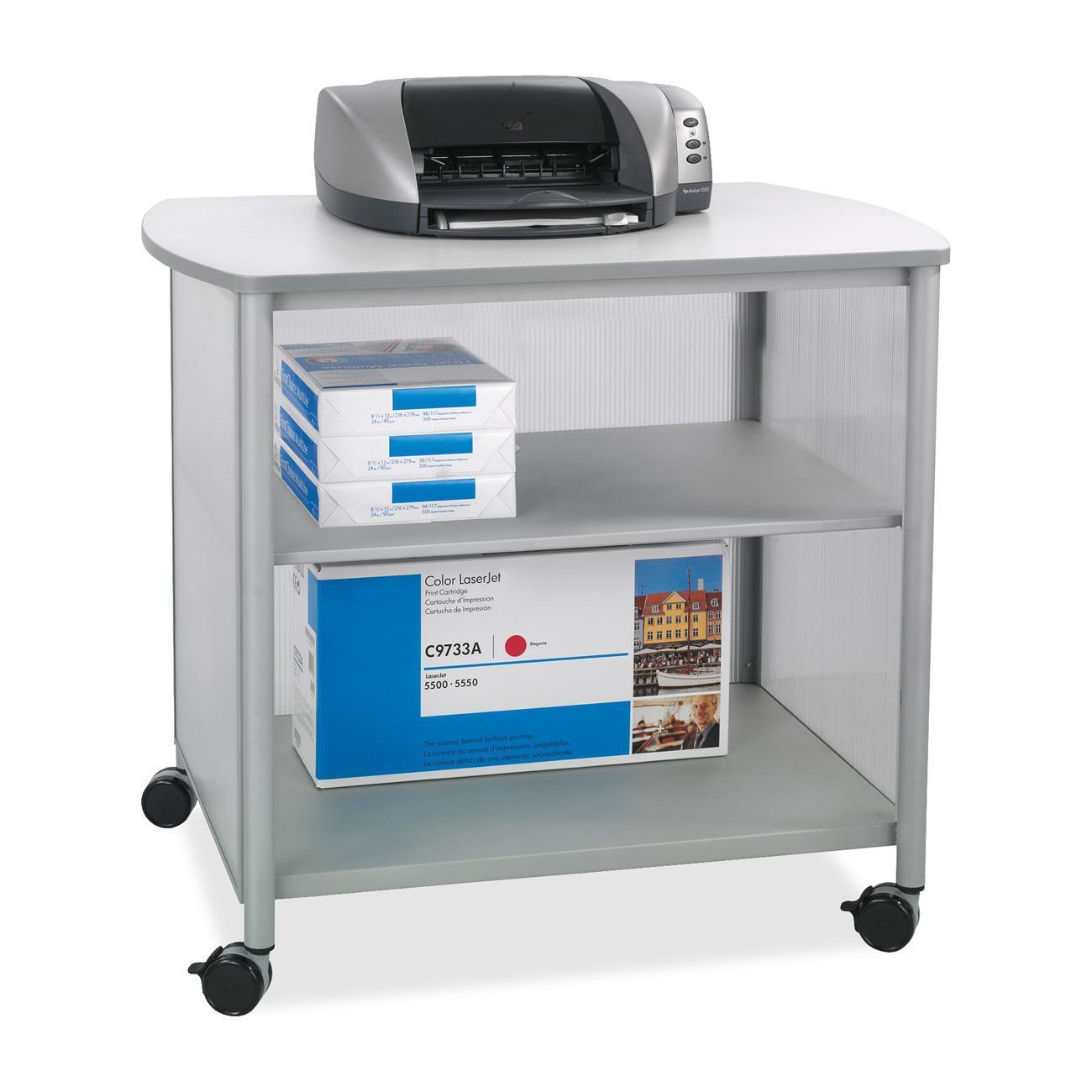 Safco, SAF1858GR, Impromptu Deluxe Machine Stand, 1 Each, Gray,Silver