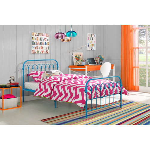 Novogratz Bright Pop Metal Bed, Multiple Sizes, Multiple Colors