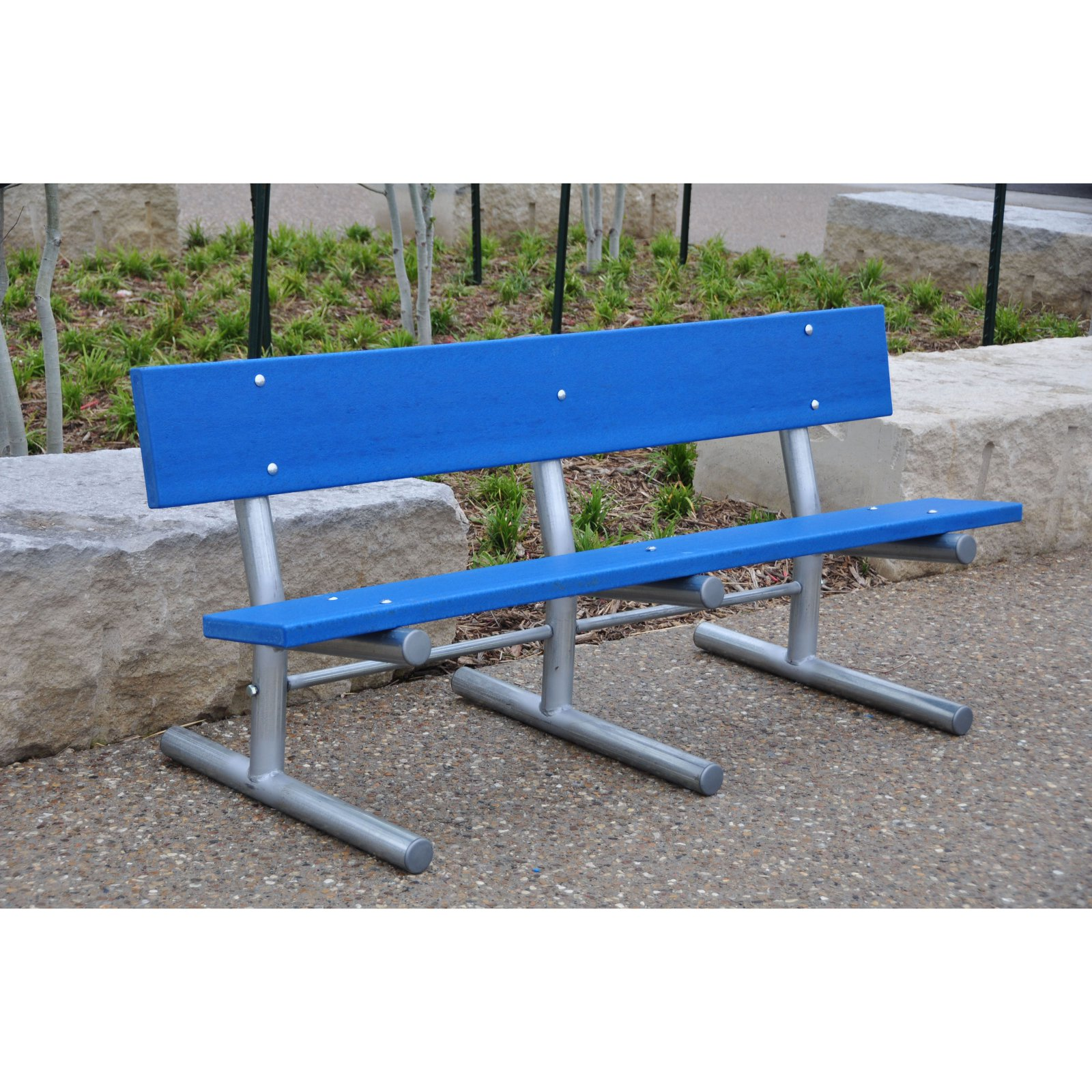 Jayhawk Plastics Frog Furnishings 6 ft. Recycled Plastic Madison Park Bench with Steel Frame