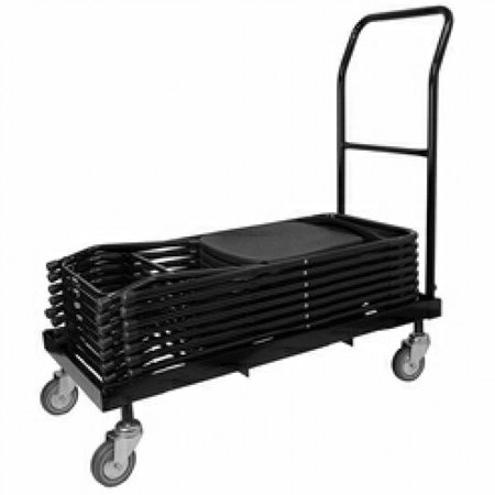 Pogo Rolling Folding Chair Cart Heavy Duty Steel, Black ()