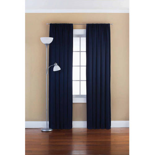 . Mainstays Solid Room Darkening Curtain Panel   Walmart com