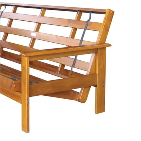 Night and Day Furniture Home Decorative Albany Queen Futon Frame Hickory