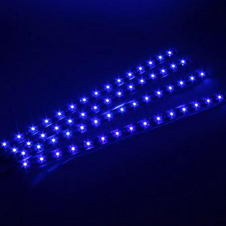 Agptek 4x30cm Led Car Flexible Waterproof Light Strip Sticker For Blue