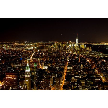 Canvas Print New York Empire State Building Manhattan Night Stretched Canvas 10 x 14](Empire State Building Halloween Night)
