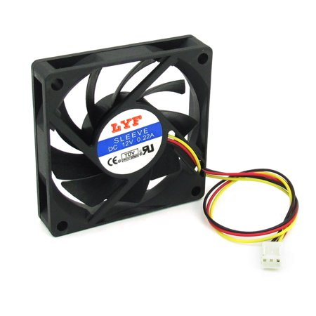 Sensational Dc 12V 0 22A Black Desktop Pc Cpu Cooler Computer Case Beutiful Home Inspiration Aditmahrainfo