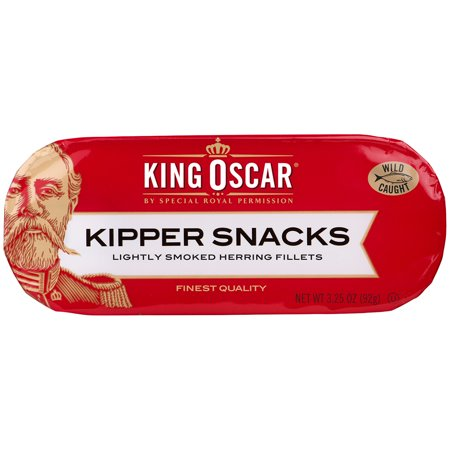 - (3 Pack) King Oscar Lightly Smoked Herring Kipper Snacks, 3.25 oz
