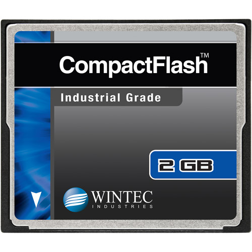Wintec Industrial Grade SLC NAND 2GB CompactFlash Card, Black
