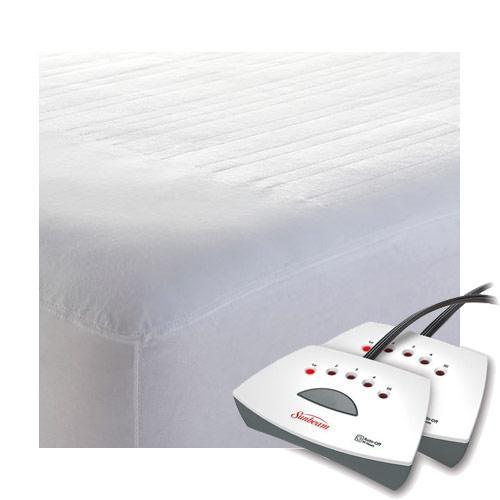 Sunbeam Non-Woven Thermofine Heated Electric Mattress Pad ...