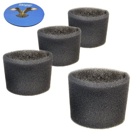 - HQRP 4-pack Foam Filter Sleeve for Shop-Vac 3332.5B / 333-80-27, 3333.5, 3333.OH, 3150, 3200, 3225, 3332, 3332.5A, 3334 Wet Dry Vac Vacuums + HQRP Coaster