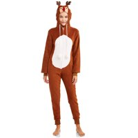 The Great Christmas Women's Plush Hooded One Piece Jumpsuit (various colors)