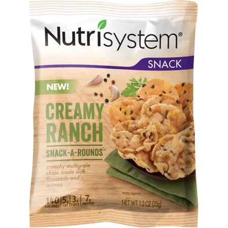 Nutrisystem Creamy Ranch Snack A Rounds  1 2 Oz   Pack Of 8