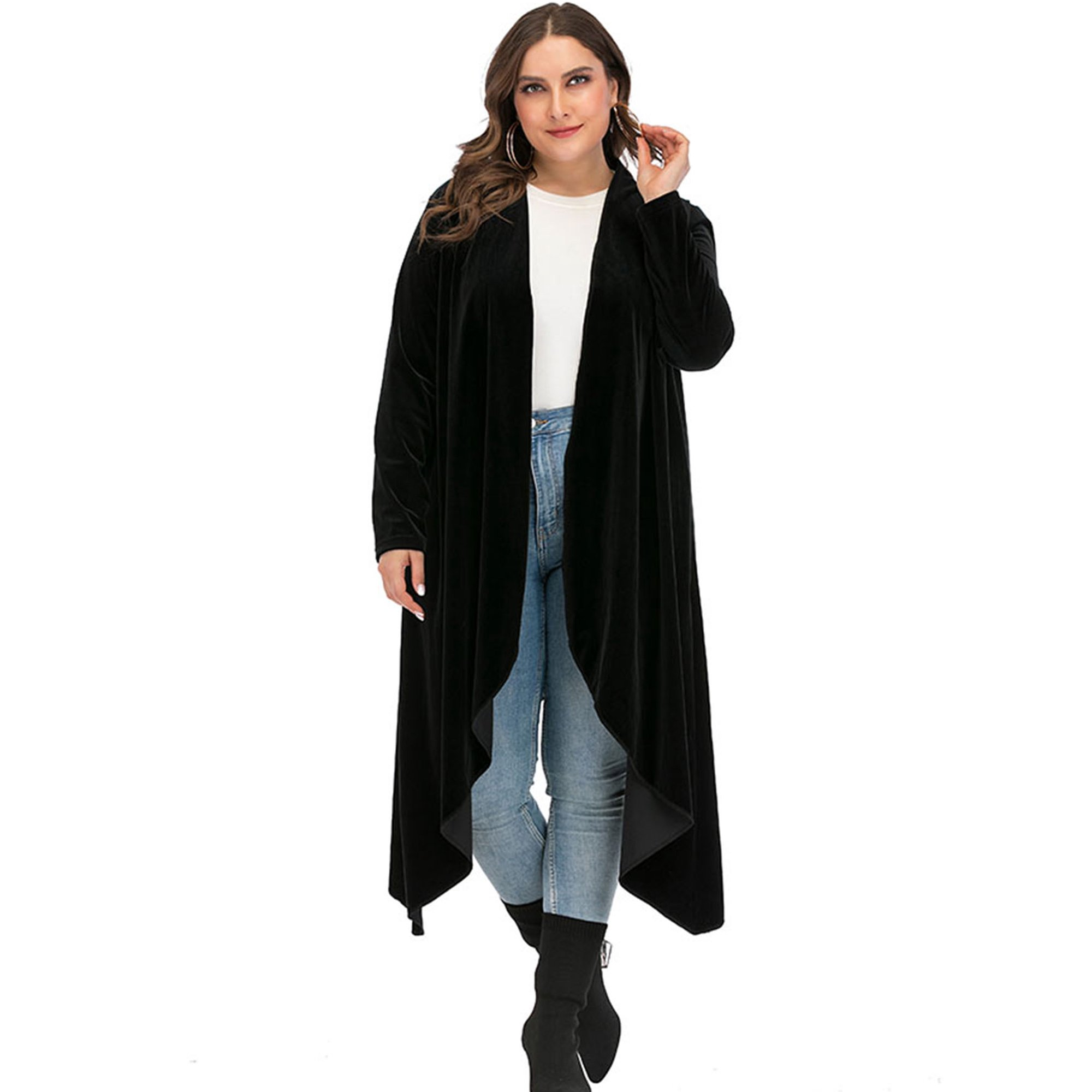 Plus Size Cardigan Lightweight Sweaters for Women Long Cardigan Duster Sweater Cover up Black Purple Kimono Cardigan Thin Tops