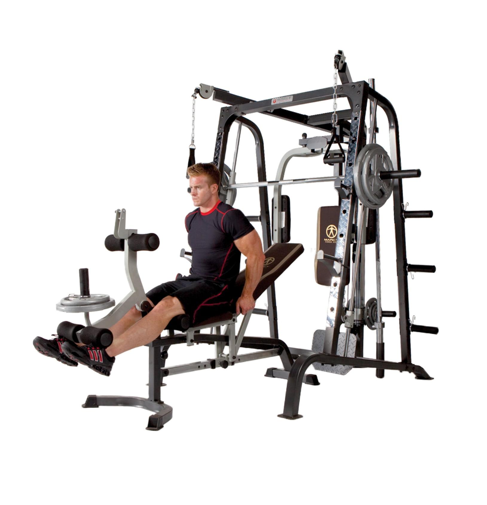 Marcy Deluxe Diamond Elite Smith Cage Workout Machine Total Body Gym