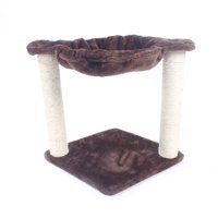 "Ktaxon 16"" Brown Pet Cat Tree Play House Tower Condo Bed Scratch Post Toy Balls -for Kittens, Cats and Pets"