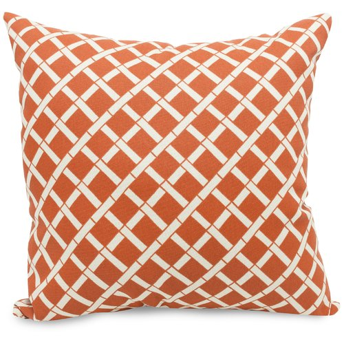 Majestic Home Goods Bamboo Pattern Indoor/Outdoor Throw Pillow