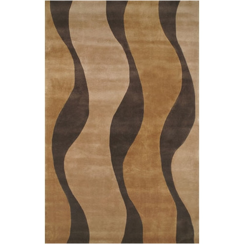 American Home Rug Co. Casual Contemporary Gold / Brown Windsong Area Rug