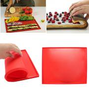 Jeobest 1PC Silicone Baking Mat - Swiss Roll Mat - DIY Multifunction Cake Pad Non-Stick Oven liner Swiss Roll Pad Bakeware Baking Tools MZ (Red) (Bakeware Liner)