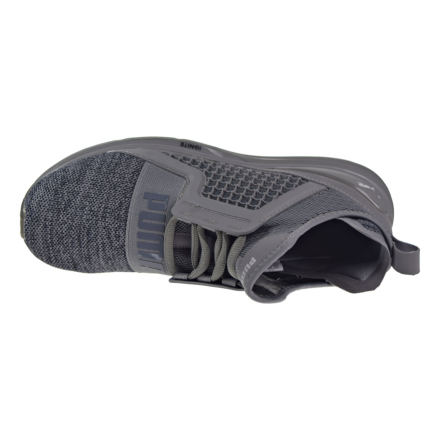 6156ae0361b PUMA - Puma Ignite Limitless Knit Men s Shoes Quiet Shade Puma Silver 189987 -06 - Walmart.com