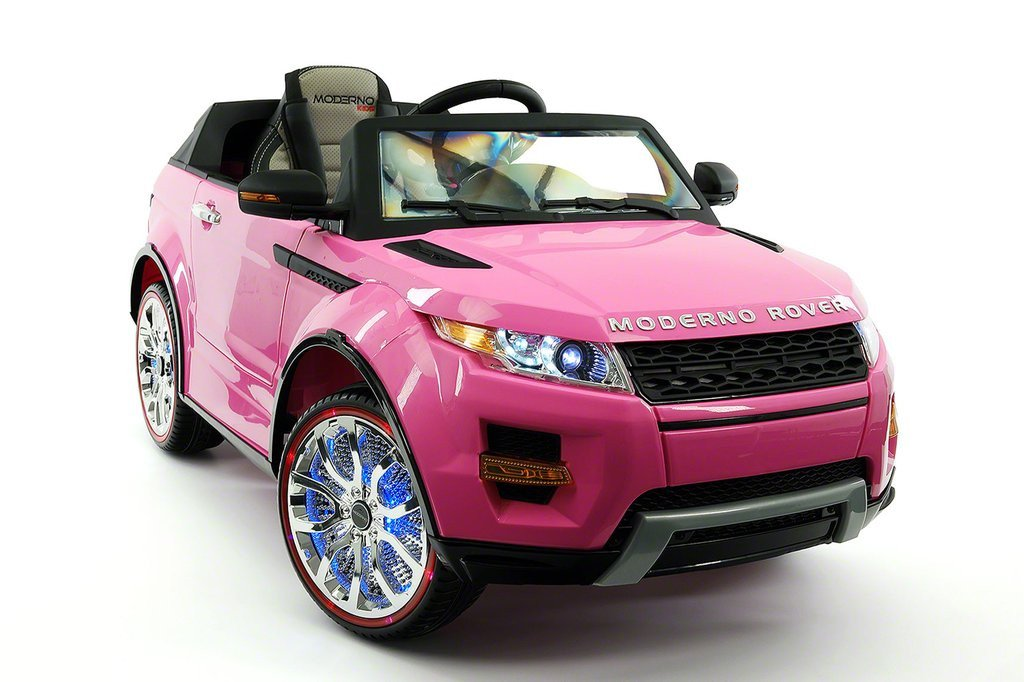 Range Rover Style 12v Kids Ride On Car Mp3 Battery Ed Led Wheels Rc Remote Pink