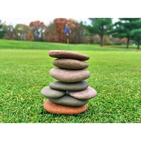 Rock Stack (Canvas Print Stacked Stones Balance Rock Cairn Stretched Canvas 10 x 14)