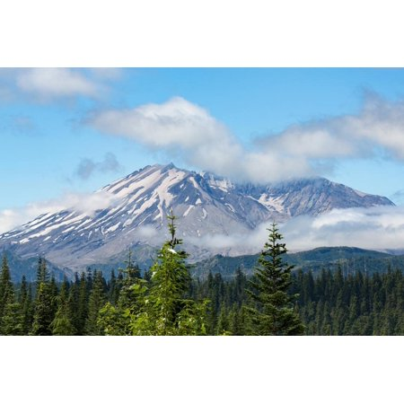 Mount St. Helens, part of the Cascade Range, Pacific Northwest region, Washington State, United Sta Print Wall Art By Martin (Pacific Northwest Region Of The United States)