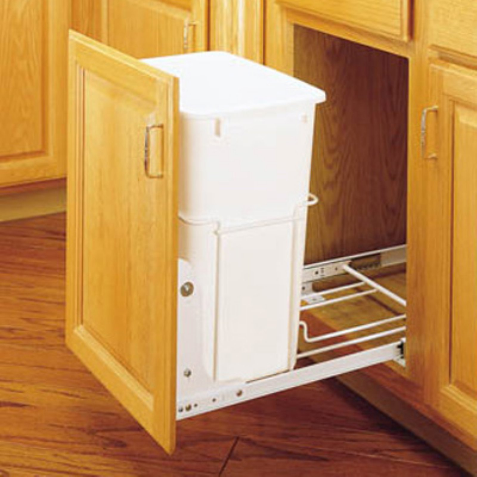 Rev-A-Shelf Single Pull Out 3/4 Extension Slides 35 qt. Trash Can