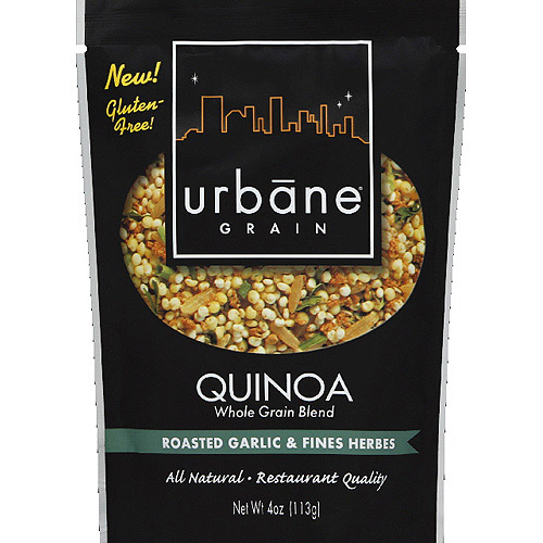 Urbane Grain Roasted Garlic & Fines Herbes Quinoa, 4 oz, (Pack of 6)