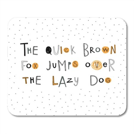 LADDKE The Quick Brown Fox Jumps Over Lazy Dog Doodle ABC Mousepad Mouse Pad Mouse Mat 9x10