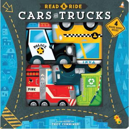 - Read & Ride: Cars & Trucks: 4 Board Books Inside! (Board Book)