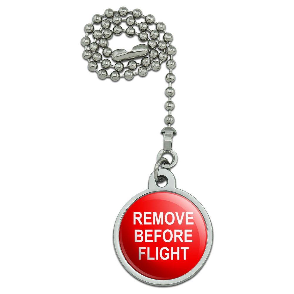 Remove Before Flight Airplane Warning Ceiling Fan and Light Pull Chain