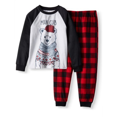 Polar Bear Family Sleep Pajamas, 2-piece Set (Little Boys & Big Boys)