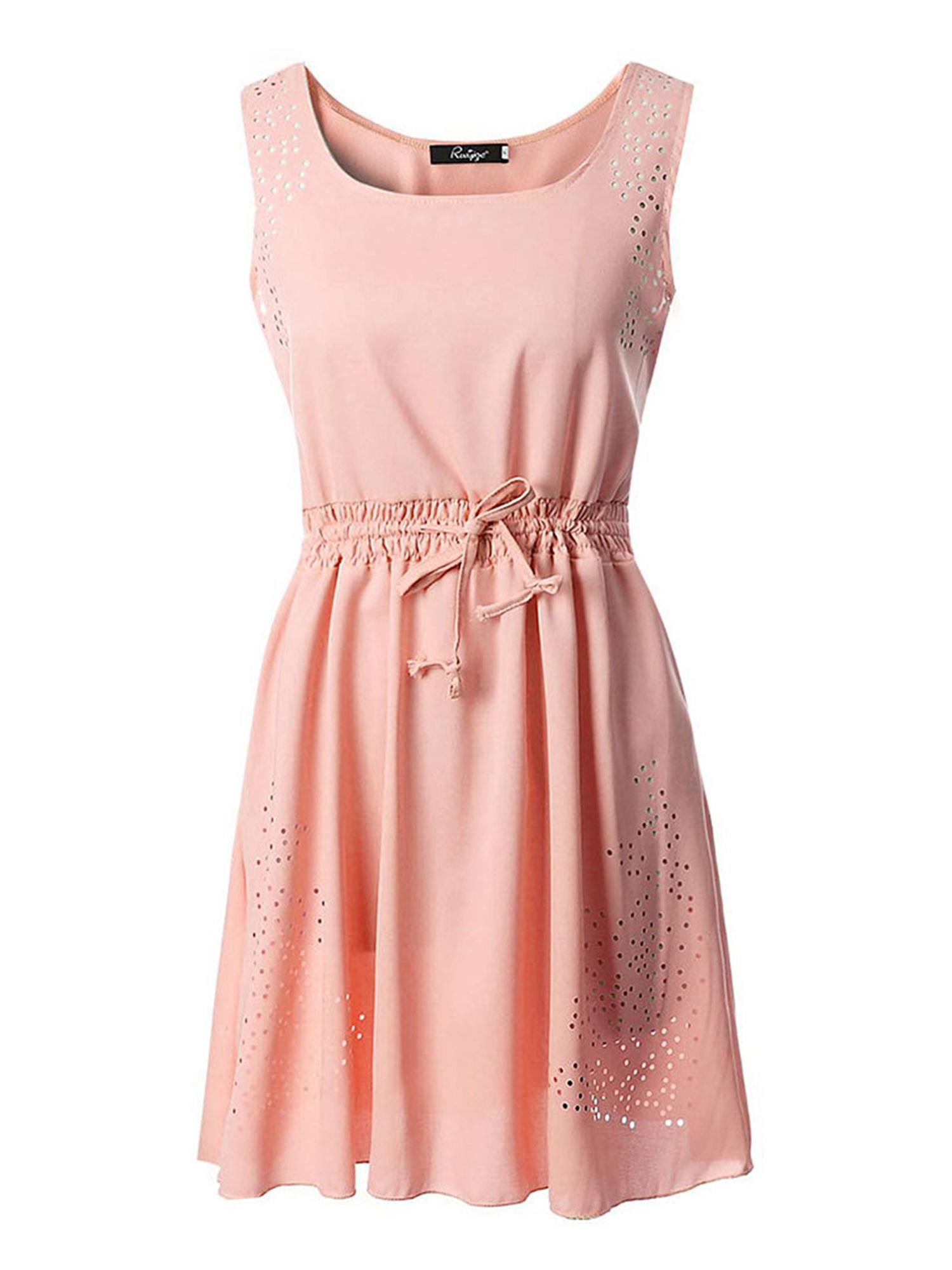 Sexy Dance Summer Dresses for Plus Size Women Chiffon Sleeveless Casual Beach Party Evening Cocktail Short Mini Dress